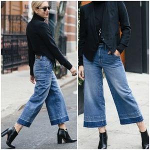 Jennifer Lopez Wide Leg Crop high Waist Jeans Sz 8